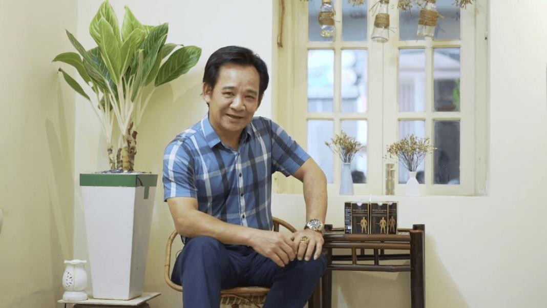 nghệ sĩ quang tèo cùng viên tăng cân hoa bảo