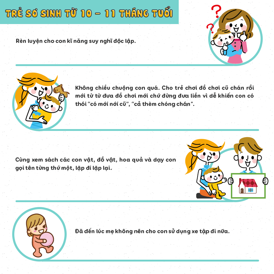 chăm sóc trẻ sơ sinh 10 tháng tuổi
