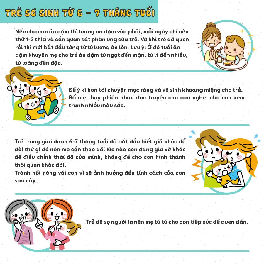chăm sóc trẻ sơ sinh 6 tháng tuổi