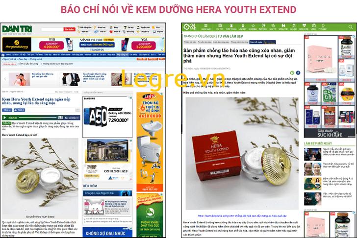 Hera Youth Extend được báo chí khen ngợi