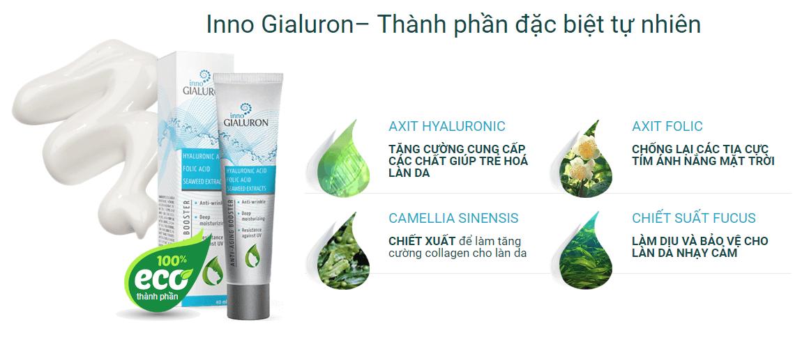 Thành phần trong kem chống lão hóa inno gialuron