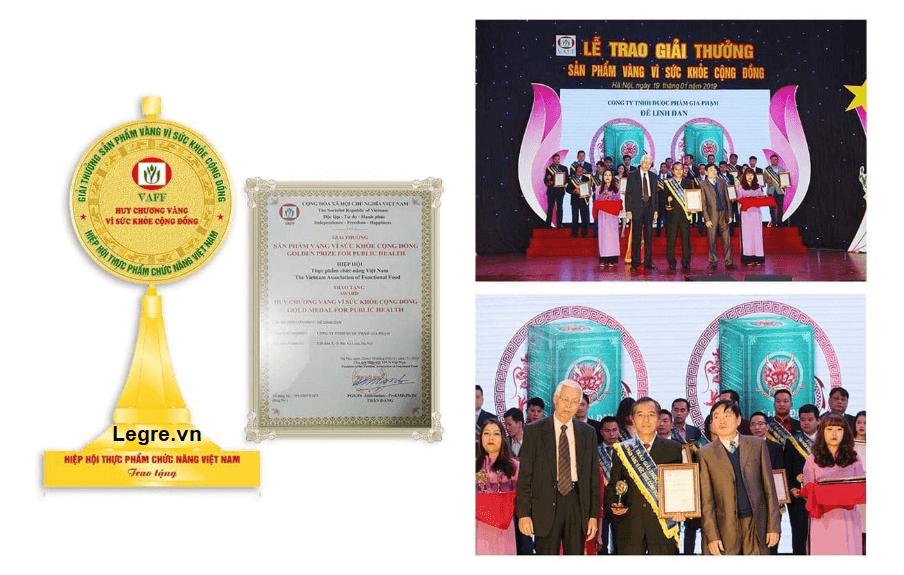 Huy chương vàng vì sức khỏe cộng đồng của Đế Linh Đan