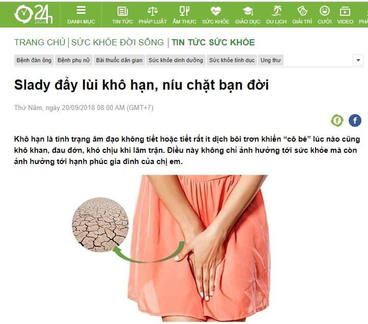 Báo chí nói về Slady