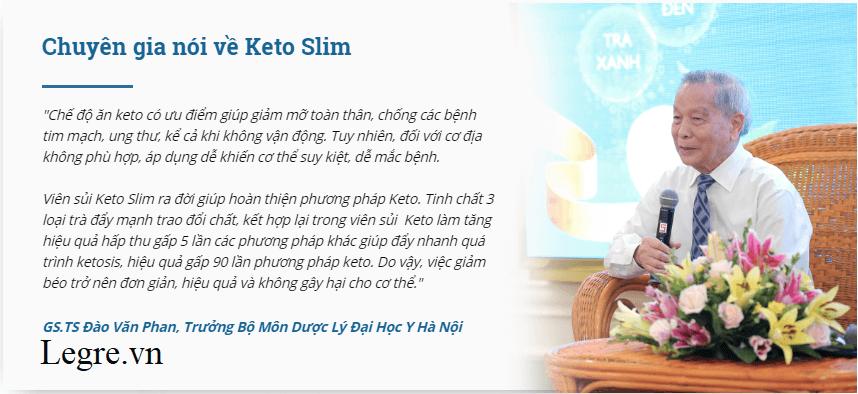 Chuyên gia dinh dưỡng Việt Nam đánh giá viên sủi Keto Slim