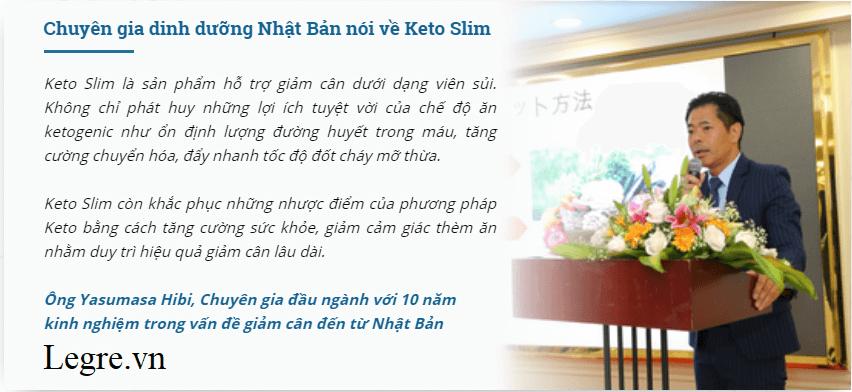 Chuyên gia dinh dưỡng Nhật Bản đánh giá viên sủi Keto Slim