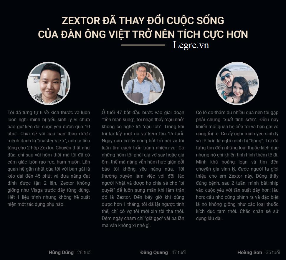 Đánh giá zextor từ khách hàng