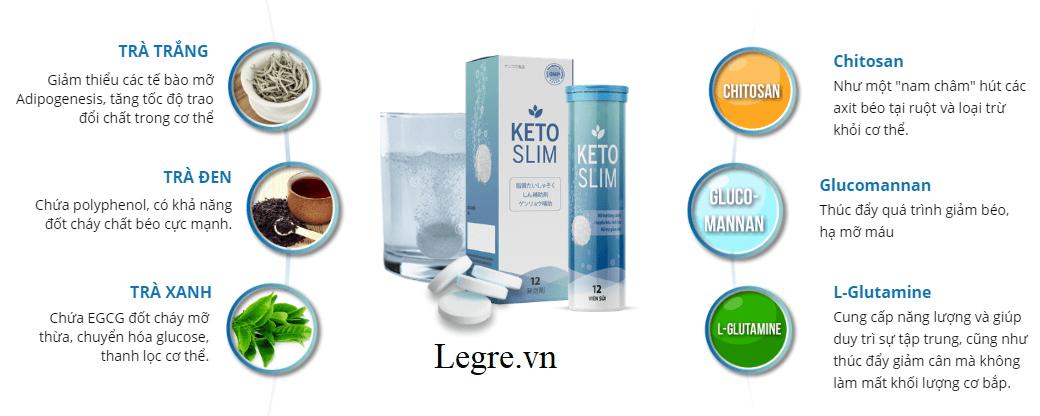 Viên sủi Keto Slim được chiết xuất hoàn toàn từ thảo dược thiên nhiên