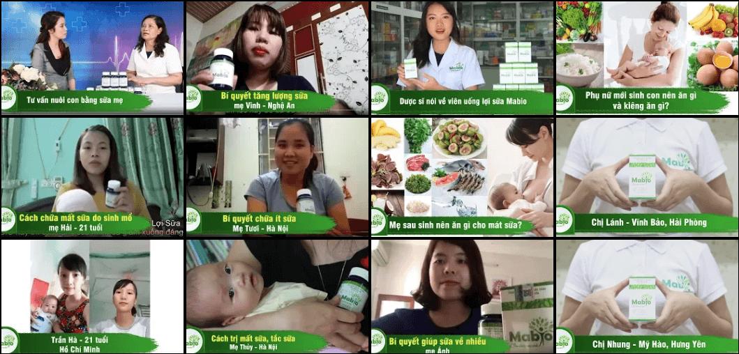 Các mẹ đánh giá viên uống lợi sữa mabio